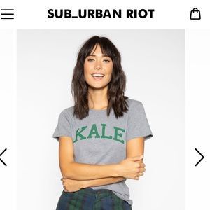 Grey Kale Tee Shirt